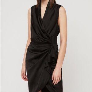 All Saints Cancity Wrap dress